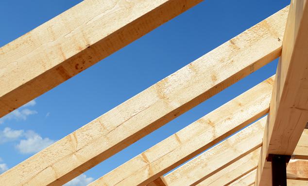 Holz für Dachkonstruktionen