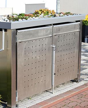 bepflanzbare Mülltonnenbox