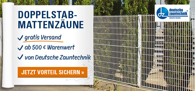 Doppelstabmattenzäune ab 500 € Warenwert versandkostenfrei von Deutsche Zauntechnik
