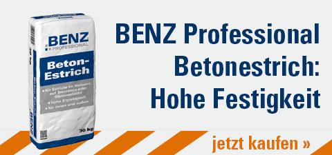 BENZ Professional Betonestrich: Hohe Festigkeit