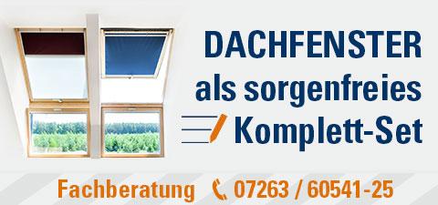 Dachfenster als sorgenfreies Komplett-Set