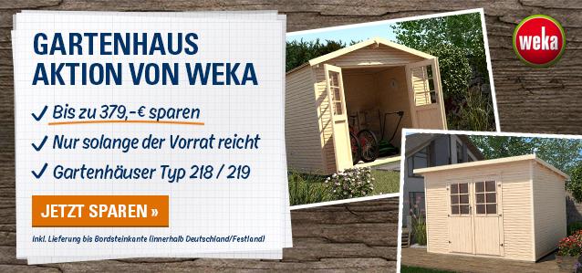 Gartenhaus-Aktion von weka