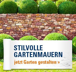 Garten gestalten mit: Stilvollen Gartenmauern