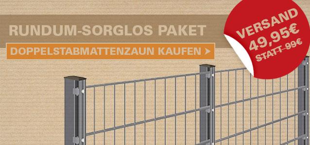 Doppelstabmattenzaun-Set Versand nur 49,95€