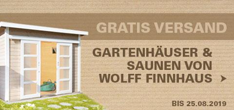 Gartenhäuser & Saunen von Wolff Finnhaus versandkostenfrei