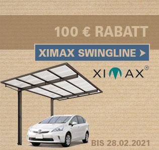 Ximax Swingline Carports 5% reduziert