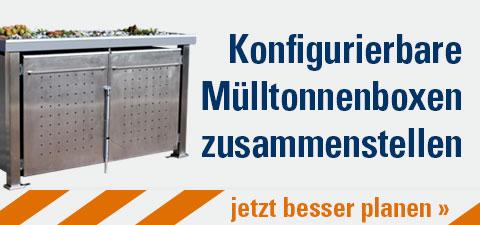 Konfigurierbare Mülltonnenboxen zusammenstellen
