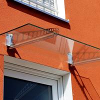 Regenrinnen & Zubehör Heimwerker Einfach Edelstahl Regenrinne Klemmhalterungen Trapez_form Bis 200cm/vordach/glasdach
