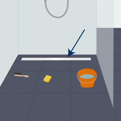 Duschrinne reinigen