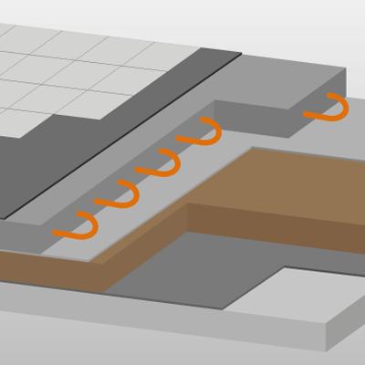 Sehr Wie sieht der Fußbodenaufbau mit einer Fußbodenheizung aus? AU98