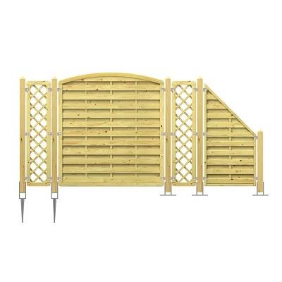 Holz Sichtschutzzaun planen und aufstellen