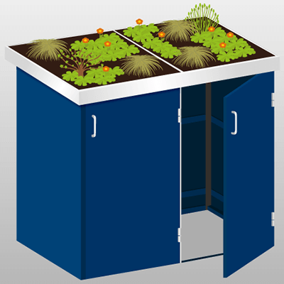 wie sie eine m lltonnenbox bepflanzen. Black Bedroom Furniture Sets. Home Design Ideas