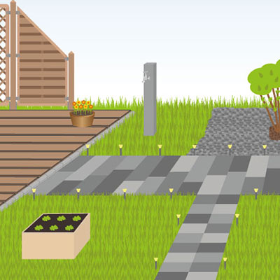 Pflegeleichter Garten für Senioren