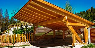 Holz Carports