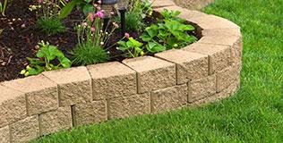 Sandstein Gartenmauern