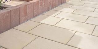 Natursteinoptik Terrassenplatten