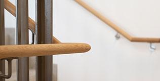 Holz Treppengeländer innen