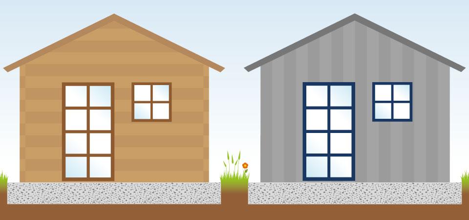 gartenhaus ger tehaus holz oder metall. Black Bedroom Furniture Sets. Home Design Ideas